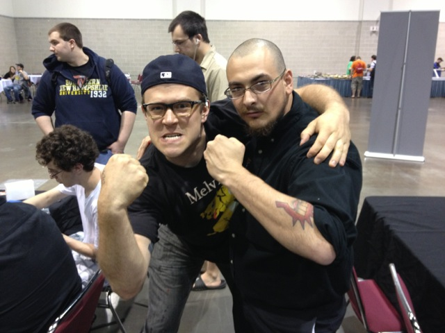 The judge for the draft I 3-0'd was this awesome Army vet named Jeremy. Check out his sweet Boros Legion tattoo.
