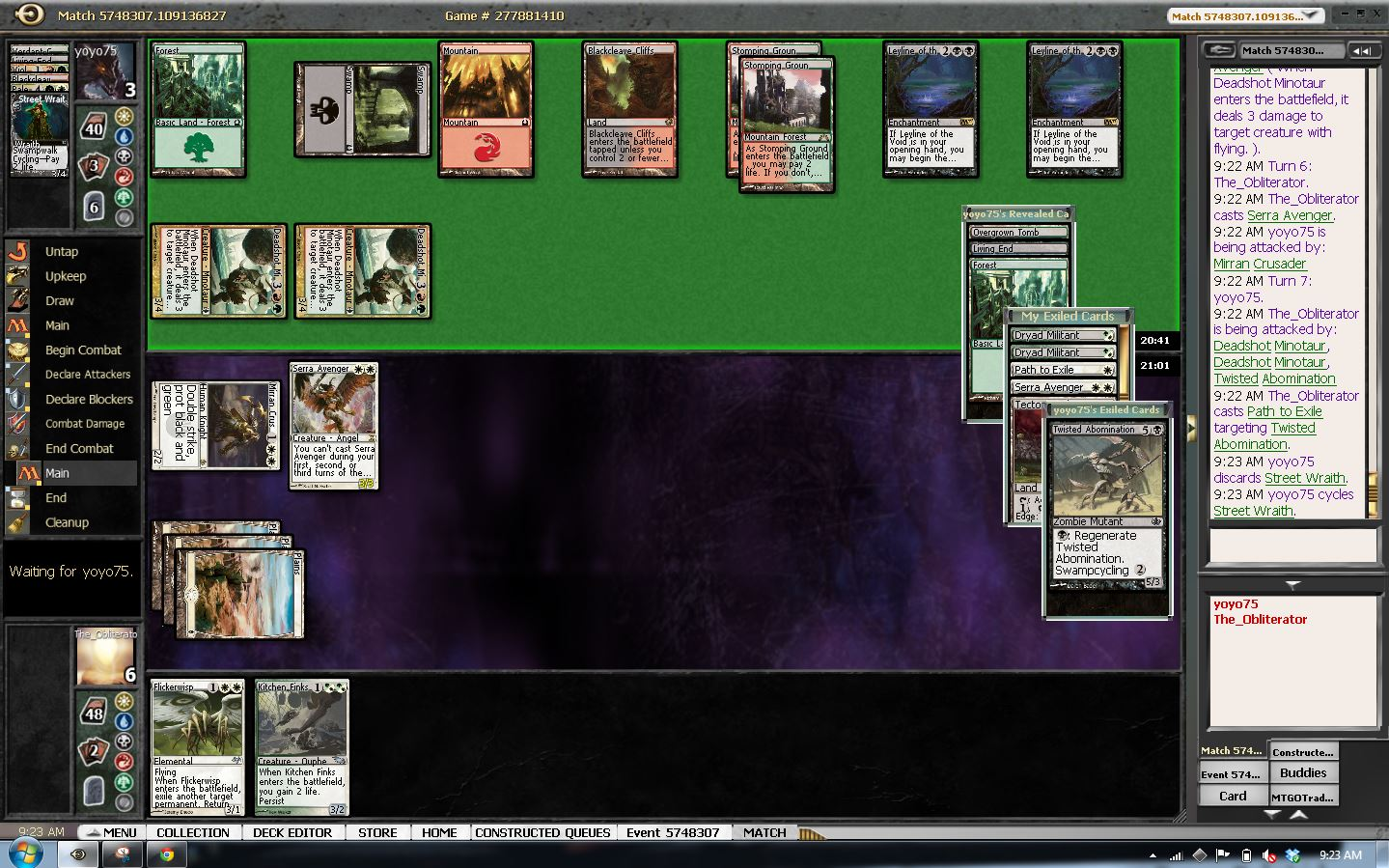 mono white hate bears vs living end board state