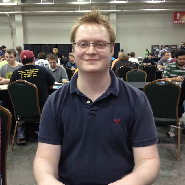 Aaron, my R1 (really R3 b/c of byes) opponent. After I beat him with Ashiok, he went on to X-0 the rest of the day, finishing day one at 8-1. Nice!