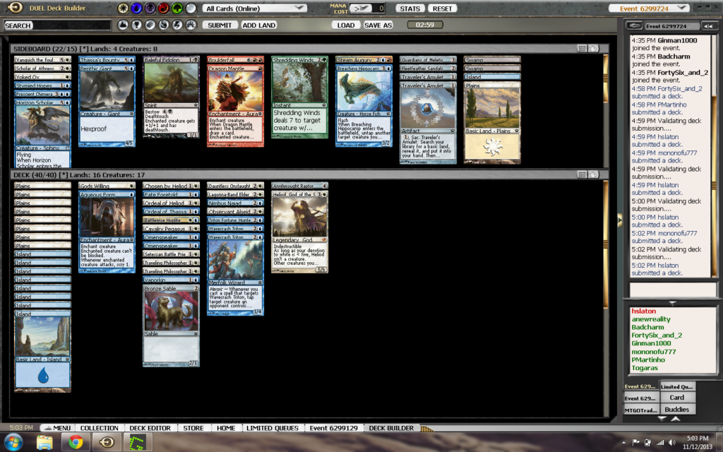 11-12 Theros draft deck 1