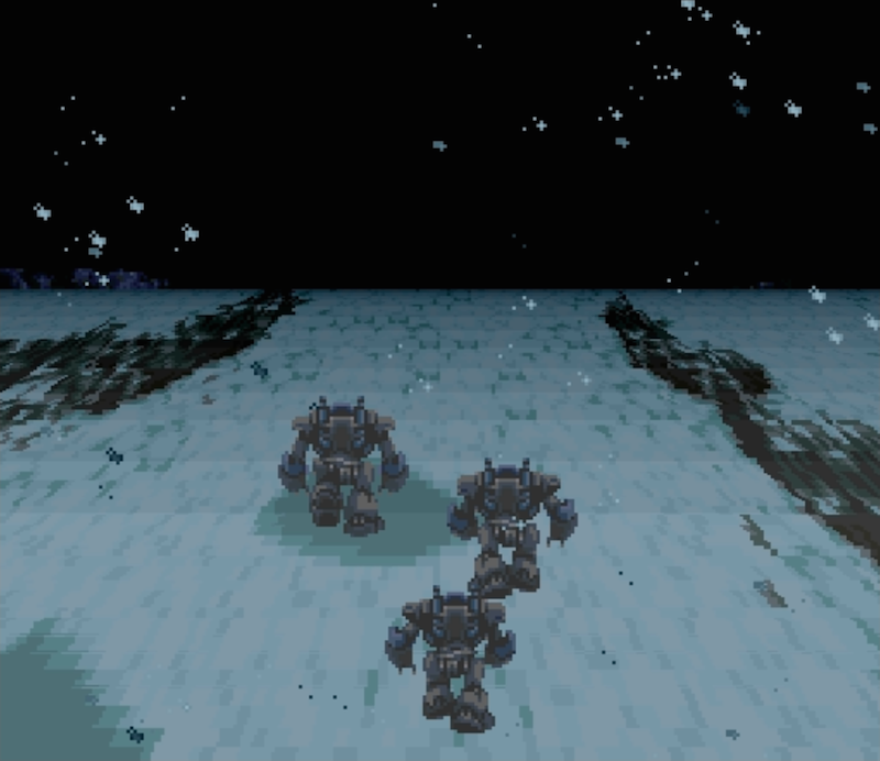 A scene from the opening credits of Final Fantasy III.