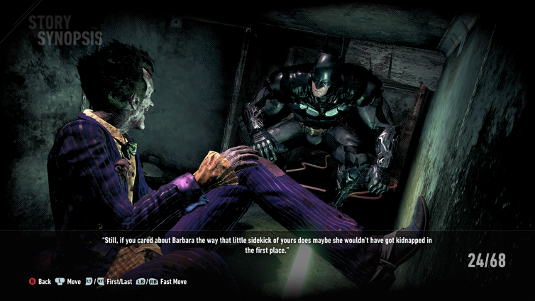 In the comics, Oracle beats the shit out of Joker when he breaches her hideout. There are no signs of resistance in this telling.
