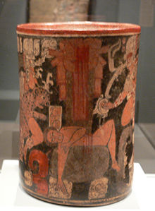 """Maya vessel with sacrificial scene DMA 2005-26"" by Photo: User:FA2010 - Own work. Licensed under Public Domain via Commons."