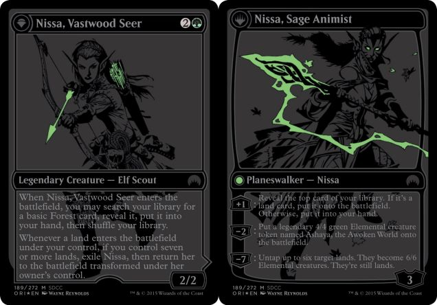 Between this and the sword, they really tried to improve her for the Commander set. Still wish she didn't animate lands though.