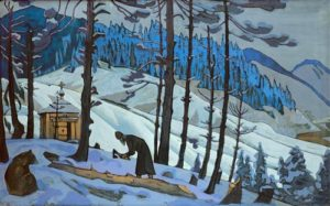 St. Sergius the Builder (future name of Bartholemew) - by Nicholas Roerich, 1929