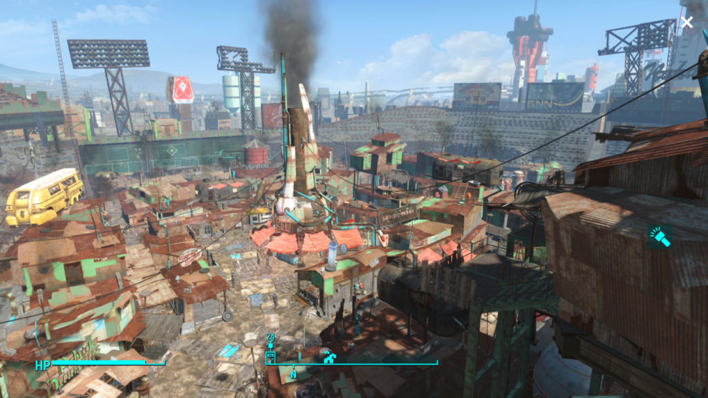 Diamond City, aka the city they built out of Fenway.