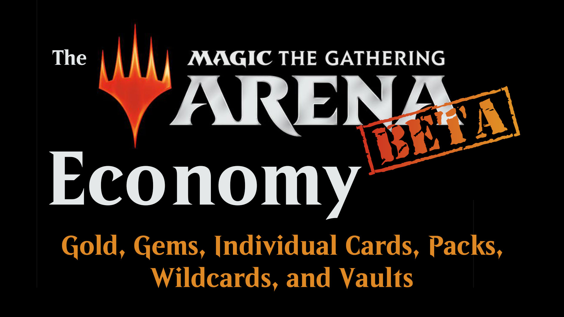 The MTG Arena Closed Beta Economy: Gold, Gems, Cards, Packs