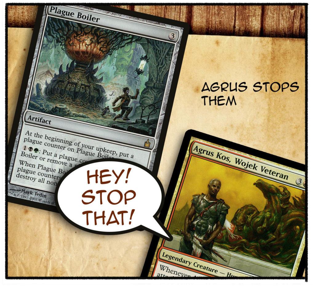 Agrus stops them.