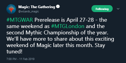 War of the Spark's Prerelease Will Conflict with MagicFest