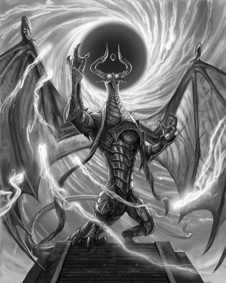 Nicol Bolas God Dragon By Matt Stewart For War Of The Spark