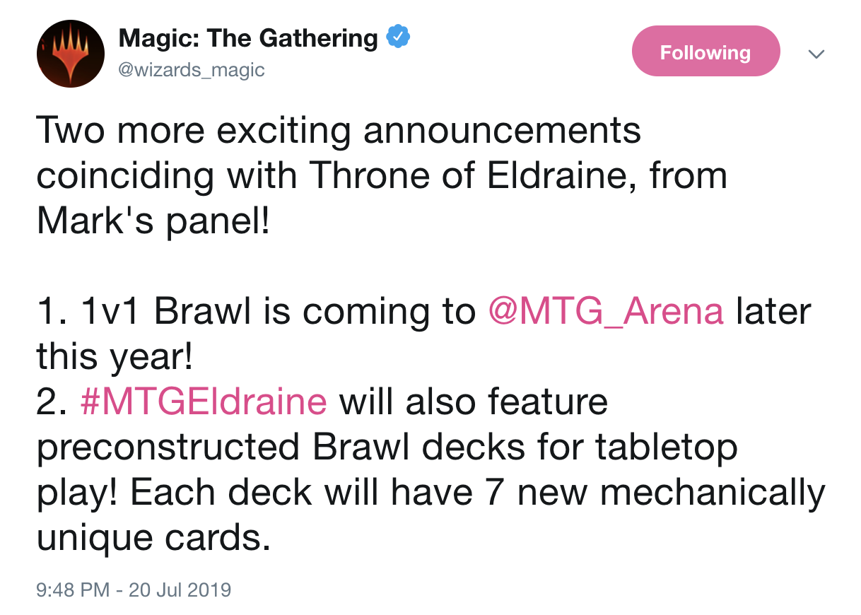 Brawl is Coming MTG Arena