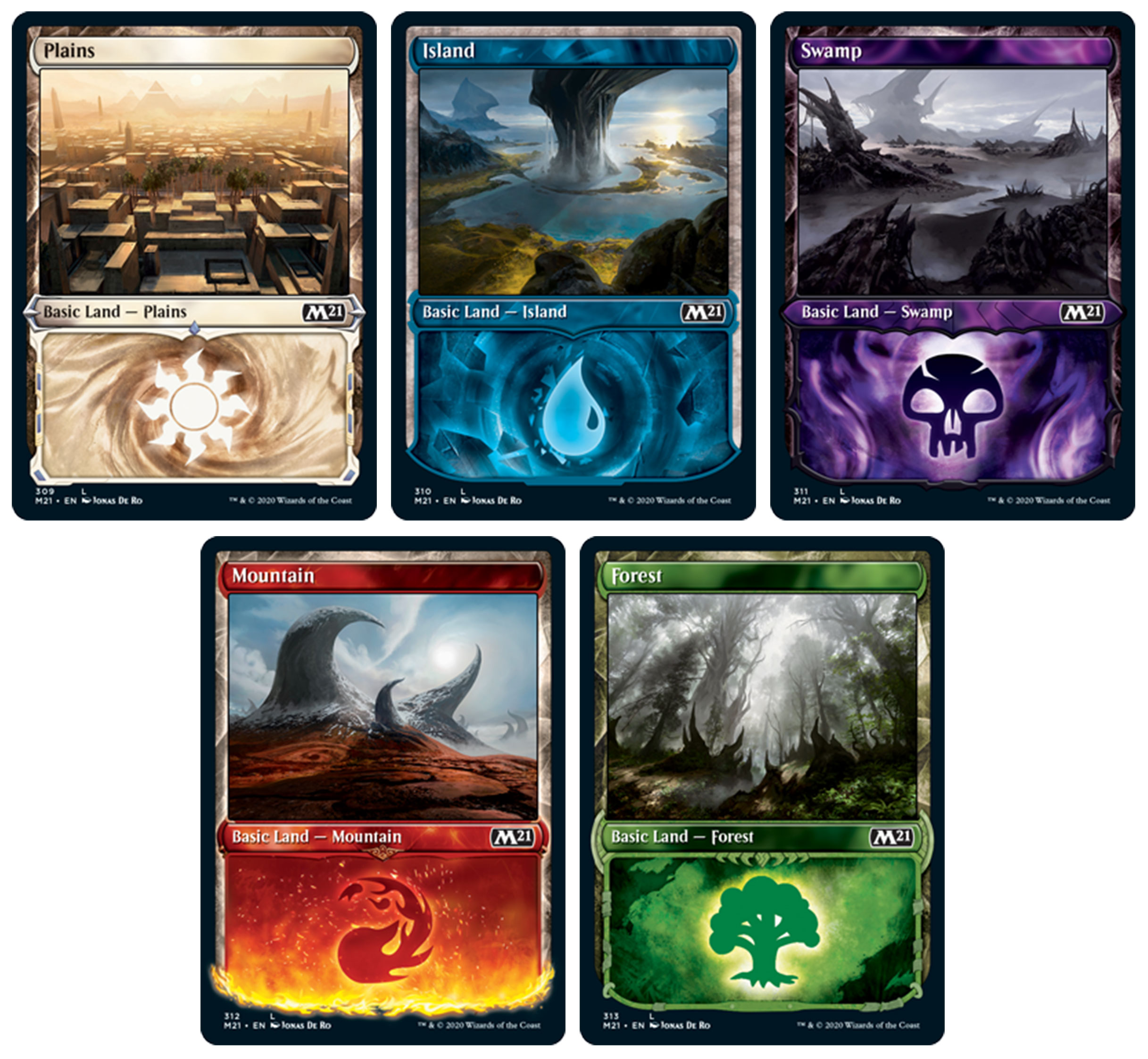 Core Set 20 Preview Basic Lands   Hipsters of the Coast ...